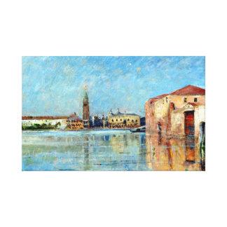 Impressão Em Canvas Cena Venetian do canal do palácio do Doge de Carl