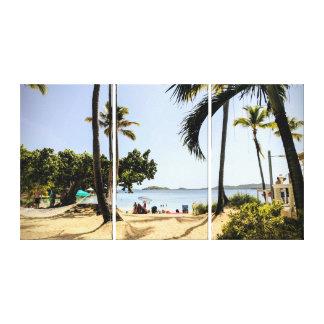 Impressão Em Canvas Cenário ensolarado brilhante da praia