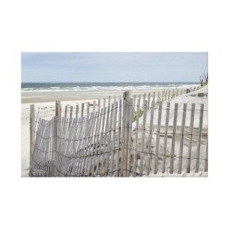 Impressão Em Canvas Cerca da praia e praia resistidas do oceano