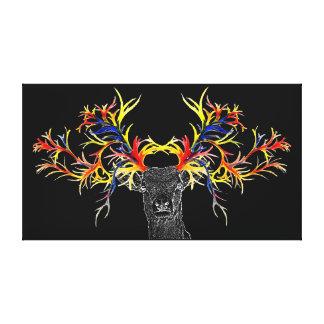 Impressão Em Canvas cervos