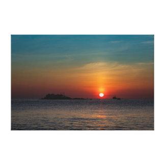 Impressão Em Canvas Céu azul alaranjado Vietnam da manhã