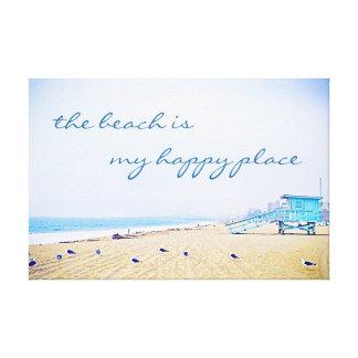 """Impressão Em Canvas """"Céu do Aqua das citações do lugar feliz"""" & foto"""