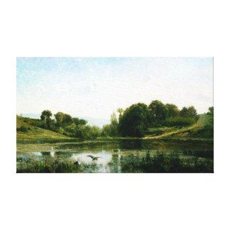 Impressão Em Canvas Charles-François Daubigny as lagoas de Gylieu