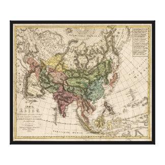 Impressão Em Canvas Charte camionete Asien (mapa de Ásia) 1805