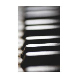 Impressão Em Canvas Chaves velhas do piano