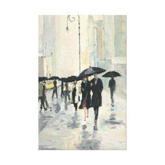 Impressão Em Canvas Cidade na chuva