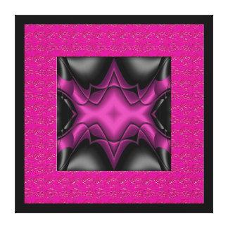 Impressão Em Canvas Cinza do preto do rosa da arte abstracta das canva