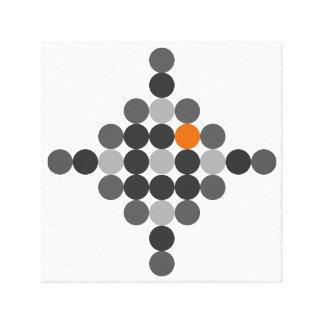 Impressão Em Canvas Cinzento + Arte geométrica alaranjada