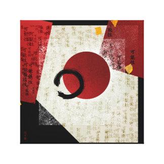 Impressão Em Canvas Círculo de Ensō do zen com potencial do Kanji com