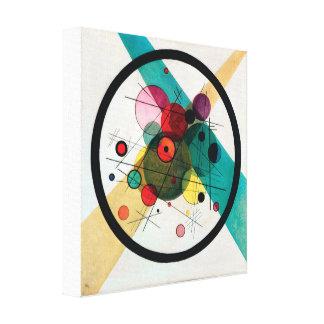 Impressão Em Canvas Círculos em um círculo por Wassily Kandinsky