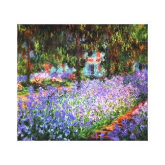 Impressão Em Canvas Claude Monet o jardim do artista em Giverny