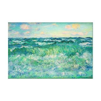 """Impressão Em Canvas Claude Monet Pourville marinho France 17X11.25 """""""