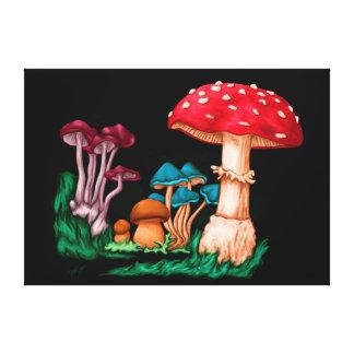 Impressão Em Canvas Cogumelos