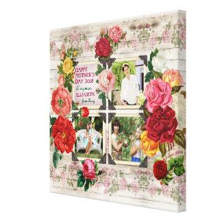 Impressão Em Canvas Colagem da foto do vintage de Instagram dos rosas