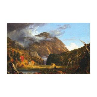 Impressão Em Canvas Cole de Thomas uma ideia da passagem de montanha
