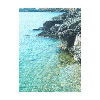 Impressão Em Canvas coleção marinha. Piscina. Kefalonia