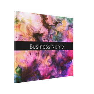 Impressão Em Canvas Colorido, pintura abstrata do Grunge com nome da