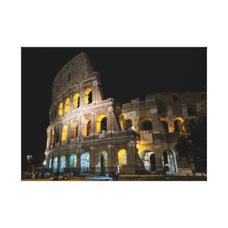 Impressão Em Canvas Colosseum na noite