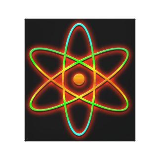 Impressão Em Canvas Conceito atômico