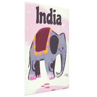 Impressão Em Canvas Cópia do poster das viagens vintage do elefante
