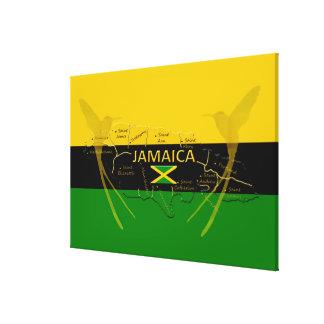 Impressão Em Canvas Cores das paróquias de Jamaica que zumbem