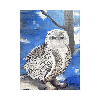 Impressão Em Canvas coruja do inverno