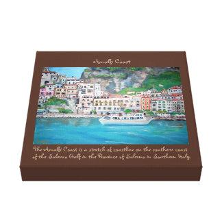 """Impressão Em Canvas Costa de Amalfi - 12"""" X12"""", 1,5"""", solteiro"""