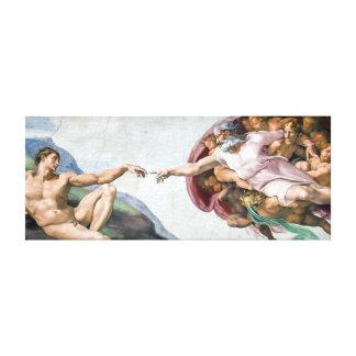 Impressão Em Canvas Criação icónica de Michelangelo de Adam