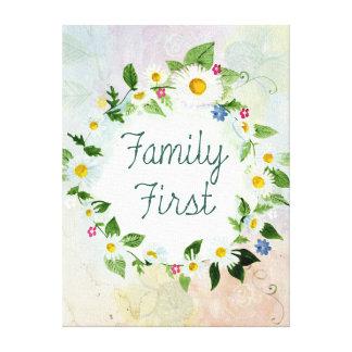 Impressão Em Canvas Da família citações inspiradas primeiramente