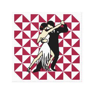 Impressão Em Canvas Dançarinos do tango