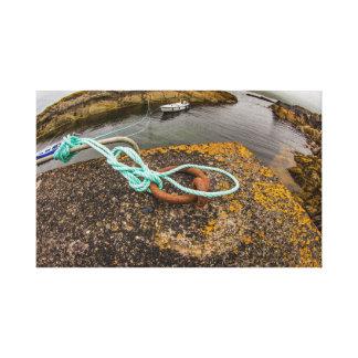 """Impressão Em Canvas De """"amarração do barco pesca, arte da parede de"""