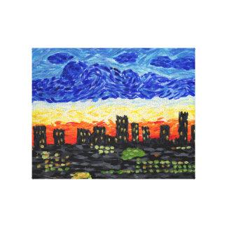 Impressão Em Canvas Denver, skyline do Co