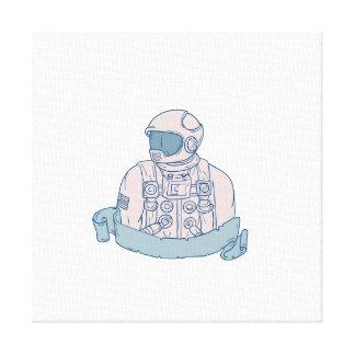 Impressão Em Canvas Desenho da fita do busto do astronauta