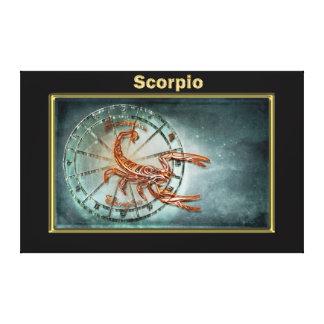 Impressão Em Canvas Design da astrologia do zodíaco da Escorpião