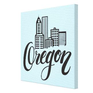 Impressão Em Canvas Design da tipografia de Oregon