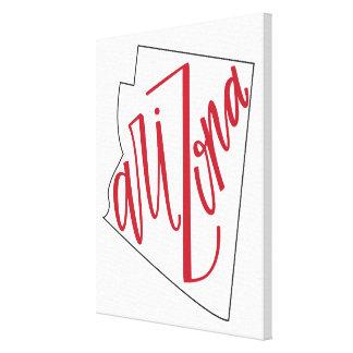 Impressão Em Canvas Design da tipografia do estado da arizona |