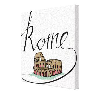 Impressão Em Canvas Design indicado por letras da mão de Roma