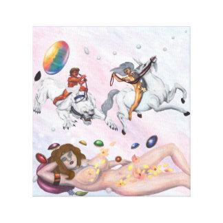 Impressão Em Canvas Deusa de sono que sonha do deus que monta uma leoa