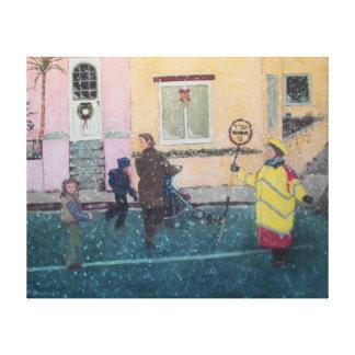 Impressão Em Canvas Dia da neve amanhã
