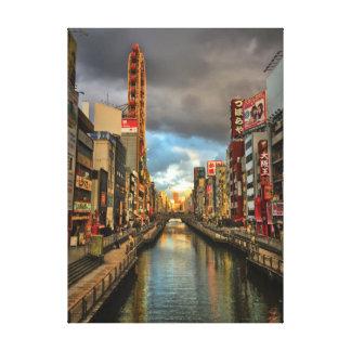 Impressão Em Canvas Dia moderno Osaka, Japão