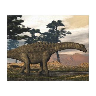 Impressão Em Canvas Dinossauro do Ampelosaurus