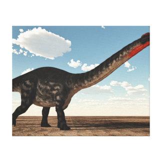 Impressão Em Canvas Dinossauro do Apatosaurus no deserto - 3D rendem