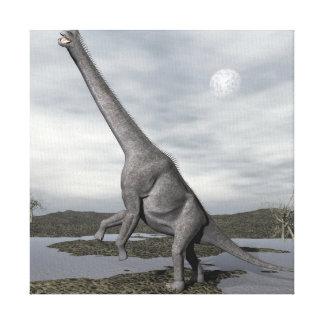 Impressão Em Canvas Dinossauro do Brachiosaurus - 3D rendem