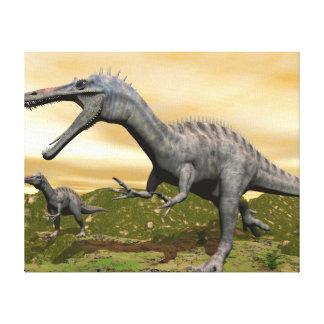Impressão Em Canvas Dinossauros de Suchomimus - 3D rendem