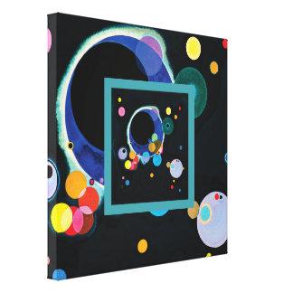Impressão Em Canvas Diversos círculos por Wassily Kandinsky