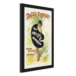 Impressão Em Canvas ~ do teatro do Daly o modelo de um artista
