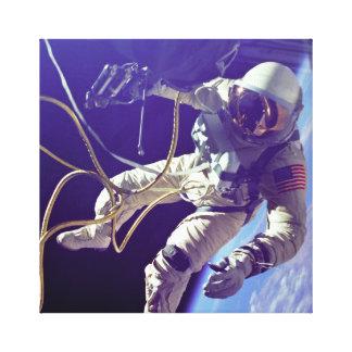 Impressão Em Canvas Do vintage de Ed do branco Spacewalk americano