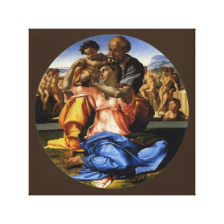 Impressão Em Canvas Doni Tondo ou Doni Madonna por Michelangelo