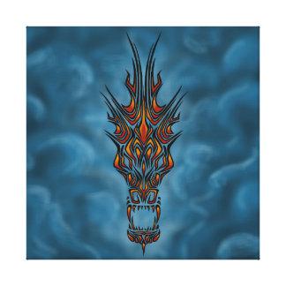 Impressão Em Canvas Dragão abstrato