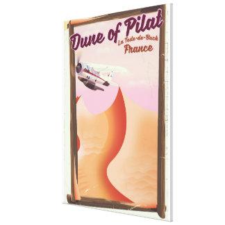 Impressão Em Canvas Duna de Pilat, cartaz do viagem de France do